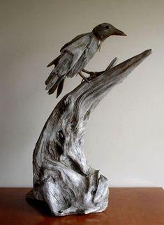 Driftwood Sculpture, Driftwood Art, Bronze Sculpture, Driftwood Projects, Modern Pictures, Wood Creations, Nature Crafts, Beach Art, Bird Art