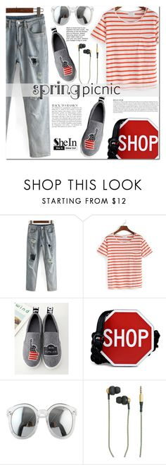 """""""SheIn"""" by cherry-bh ❤ liked on Polyvore featuring Moschino, Anja, Kreafunk and shein"""