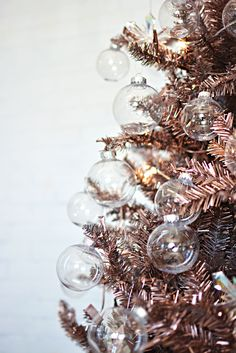 DIY Rose Gold Christmas Tree