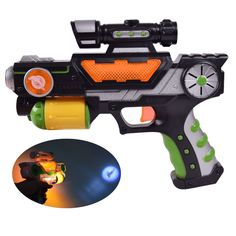 2016 New Hot Children Electric Toy Gun Luminous Music Flash Eight Kinds of Image Voice Projection Gun, Boys Like Gift
