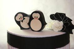 Wedding Cake Topper Penguin penguins by primitiveseason on Etsy, $16.75