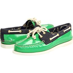 Sperry Top-Sider A/O 2 Eye Kelly Green/Navy - Zappos.com Free Shipping BOTH Ways