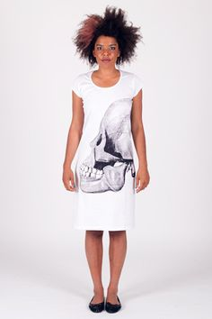 Skull Side - Back Seam Cap Sleeve Dress