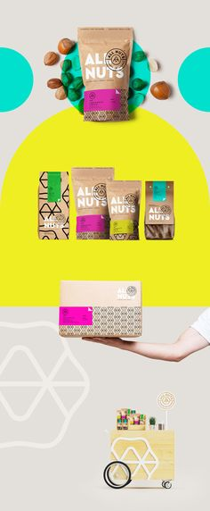 Brand Identity, Packaging Design and a we Monogram that Becomes a Pattern for Nuts PACKAGING DESIGN World Packaging Design Society│Home of Packaging Design│Branding│Brand Design│CPG Design│FMCG Design