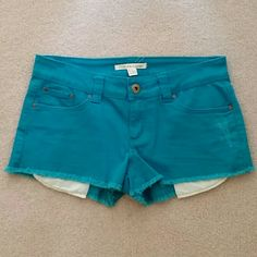 Forever 21 denim shorts Forever 21 denim shorts. Beautiful bright blue color. Forever 21 Shorts