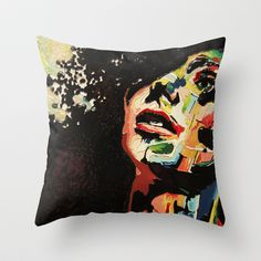 Rainbow Throw Pillow by AsyaCreativeArt - $20.00