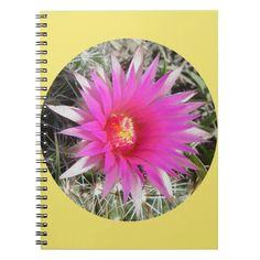 "F29 Ball Cactus Flower ""Escobaria vivipara"" Notebook Custom Office Retirement #office #retirement"