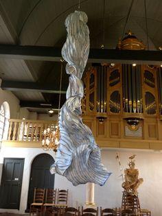 Paper sculptures Peter Gentenaar Church in IJhorst-Grensloos Kunst Verkennen 2014
