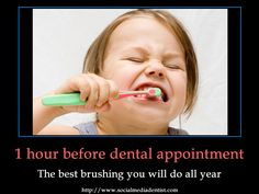 The habits before our dental appointments. Poulsbo Children's Dentistry in Poulsbo, WA @ poulsbochildrensdentistry.com