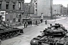 Stock Photo - Soldiers from the U. Army Berlin Command face off against police from the former East Germany during one of several standoffs at Checkpoint Charlie in On several West Berlin, Berlin Wall, East Germany, Berlin Germany, Patton Tank, Checkpoint Charlie, Military Armor, United States Army, Socialism
