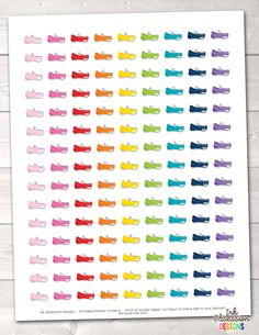 Shoe Printable Planner Stickers – Erin Bradley/Ink Obsession Designs