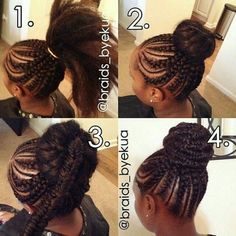 Flawless braided bun by @narahairbraiding - http ...