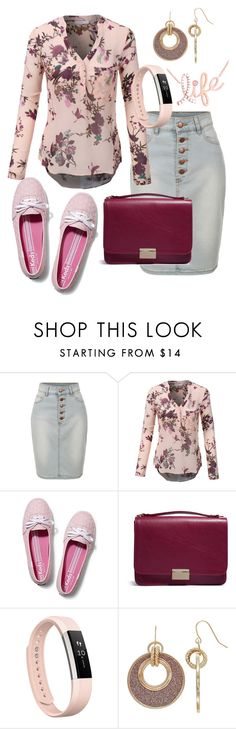 """Life"" by naviaux ❤ liked on Polyvore featuring LE3NO, Keds, Lauren Merkin, Fitbit, Apt. 9 and Kobelli"