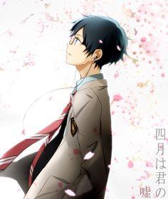 四月は君の嘘 / Shigatsu wa Kimi no uso / Your lie in April. Sad Anime, Anime Kawaii, Me Me Me Anime, Anime Manga, Anime Guys, Anime Art, Anime Life, Fanarts Anime, Anime Characters