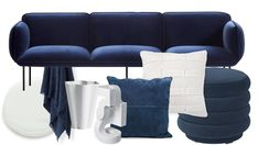 Earthy textures and organic shapes give this traditional combination a modern touch. Take a look at our favourite navy and white picks!