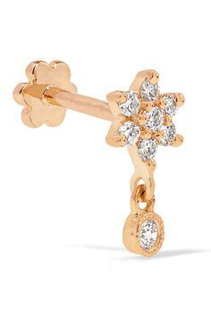 Maria Tash Lightning Bolt 18-karat Gold Diamond Earring mwO8Q