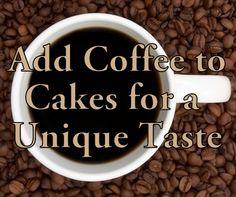 Making Cake Using Coffee