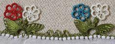 Parmakta başlanan nar çiçeği igne oyası yapımı