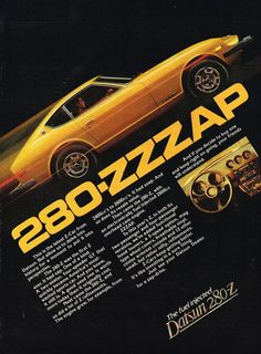 1977 Datsun 280 Z Fuel Injected Sports Car #OldAdsPlus #OldCarAds #Datsun #280z