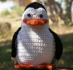 crochet penguin - I'm going to try and convert this into an ice pack/heat pack. I'm ambitious like that.