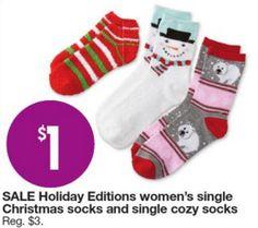 Kmart Black Friday Door Busters: Christmas Socks Only $1