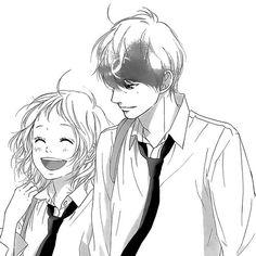 Find and save your favorite anime, manga and kawaii scenes. Manga Anime, Manga Art, Anime Art, Manga Love, Anime Love, Futaba Y Kou, Manhwa, Strobe Edge, Romantic Anime Couples