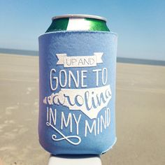North Carolina Koozie Gone to Carolina UNC by ThePinkHousePress, $5/5 for $20