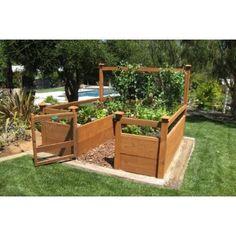 Love this raised vegetable garden @ DIY Home Design