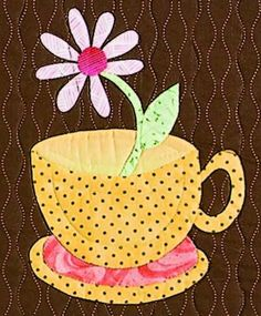 Image result for coffee mug pattern for quilt