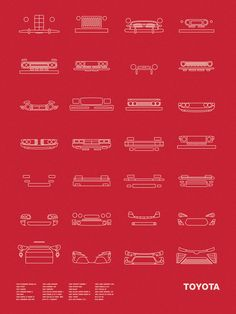 Auto Icon Screen Print Series: Toyota by nomodesignshop on Etsy