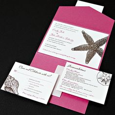 Pocket pieces are all the rage this year, and for good reason. They offer a very stylish and interesting way to present wedding invitation packages.
