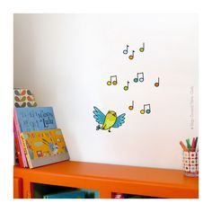 sticker-cui-cui-copier Art Mural, Wall Murals, Wall Art, Baby Room Design, Wall Design, Ideas Habitaciones, Jobs In Art, School Murals, School Decorations