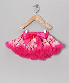 Take a look at this Pink Camo Bow Pettiskirt - Girls by Just For Girls on #zulily today!