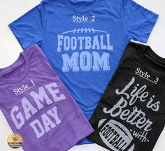 These trendy graphic tees are here just in time for Football season! So cute worn with your favorite plaid button down and skinny jeans or dressed up with statement jewelry and booties. 3 Designs, 7 Tee Colors, S-XL!