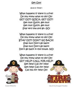 Miss Kindergarten: Fire Safety Week (poem and other ideas available)