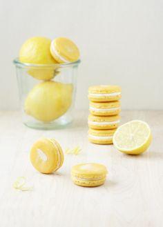 Lemon Mascarpone Macarons @FoodBlogs