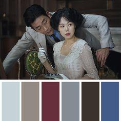 #아가씨 #color #컬러팔레트 #컬러공부 #영화 #colorpalette Movie Color Palette, Colour Pallette, Colour Swatches, Korea Style, Korea Fashion, Films, Movies, Short Film, Drama