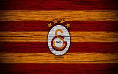 Download wallpapers Galatasaray, 4k, Turkey, wooden texture, Super Lig, soccer, football club, FC Galatasaray, art, football, Galatasaray FC