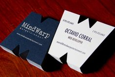 Die cut Business Cards are different from that same old square business card. Die cut Business Cards are expensive. Die Cut Business Cards that will make you say wow. Die Cut Business Cards, Examples Of Business Cards, Minimal Business Card, Unique Business Cards, Business Card Design, Creative Business, Corporate Business, Web Design, Graphic Design