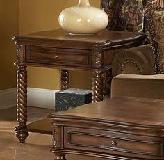 Homelegance 5554-04 Trammel End Table with Drawer - Homelegance