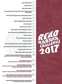 Treat yourself to a year of excellent reading with the Book Riot Read Harder 2017 challenge.
