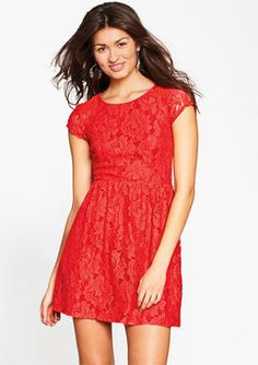ShopStyle:+Delia'sCap-Sleeve+Lace+Dress