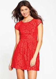 ShopStyle:+Delia'sCap-Sleeve+Lace+Dress