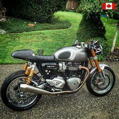 backyardrider.com Retro Motorcycle, Cafe Racer Motorcycle, Motorcycle Style, Motorcycle Design, Vintage Bikes, Vintage Motorcycles, Custom Motorcycles, Custom Bikes, Triumph Cafe Racer