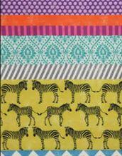 Echino Zebra Safari Chevron Fabric Yellow
