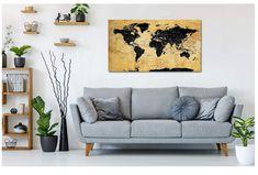 Passt super an jede Wand und wertet ihre Wohn-Inneneinrichtung auf jeden Fall auf!  WUNDERSCHÖNE FARBEN UND DETAILGETREUE - Besonderen Wert beim entwerfen der Karte wurde auf die Detailgetreue gegeben, sodass jedes Land der Welt und unzählige Inseln zu finden sind!