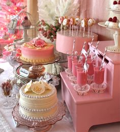 Soft pink baby Shower pastries Vignette awesome ideas for nene pink girl baby shower