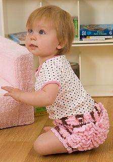 Baby Girl Ruffle Bottom Diaper Cover Pattern - Free