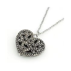 Amazon.com: Art Deco / Vintage Style Silver Heart Pendant Necklace with Gift Box: Everything Else