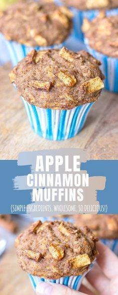 These healthy Apple Cinnamon Muffins are moist and perfectly tender, filled with fresh apples and beautiful Fall spices.   They are made with simple but WHOLESOME ingredients, without refined sugars. Perfect afternoon treat that goes so well with cup of coffee or tea. --------- #apple #applemuffins #cinnamon #muffins #muffinrecipe #recipe #healthy #healthymuffin #healthybreakfast #breakfast #snack #healthysnack #luncbox